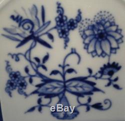 Grande Porcelaine De Meissen Blue Onion Tea Caddy Pot Porzellan Zwiebelmuster Teedose