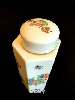 Herend Porcelaine Peinte À La Main Reine Victoria Tea Caddy 6472 / V