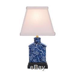 Inverse Porcelaine Bleue Et Blanche Fleur De Cerisier Tea Caddy Lampe De Table 13