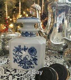 Meissen Blue Onion À Thé En Porcelaine Caddy À Blue Onion