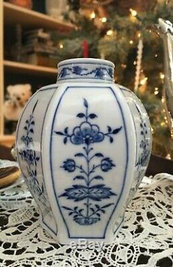 Meissen Blue Onion À Thé En Porcelaine Caddy Pot
