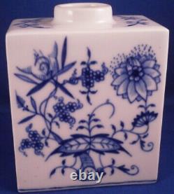 Nice Meissen Porcelaine Bleu Oignon Thé Caddy Jar Porzellan Zwiebelmuster Teedose