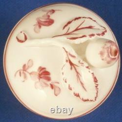 Nymphenburg Porcelaine Noir Et Fleurs De Puce Thé Caddy / Jar Porzellan Tee Dose