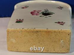 Original 18th Century Qianlong Chinois Export Porcelain Tea Caddy