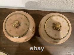 Paire De Caddies De Thé De Porcelaine Chinoise Antique, Vers 1910, État Parfait