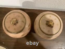 Paire De Caddy Antique Chinois De Thé De Porcelaine