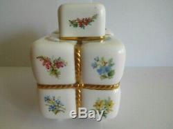Peu Fréquent Antique Minton À Thé En Porcelaine Caddy Conçu Par Christopher Dresser