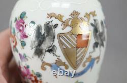 Porcelaine De Paris Chinese Export Style Painted Hand Armorial Tea Caddy