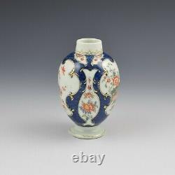 Première Période Worcester Porcelaine Échelle Bleue - Kakiemon Tea Canister Antiqu Caddy