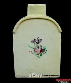 Qianlong Période (1736-1795) Chinese Export Chine Tea Caddy 5 Violet Bouteille Rouge