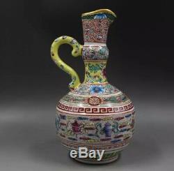 Qing Yong Zheng Manipulé Aiguière Vase En Porcelaine De Chine Céramique Antique Reproduction