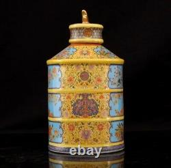 Qing Yong Zheng Porcelain Tea Caddies Chine Vase Jingdezhen Ceramic Reproduction