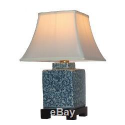 Qualité Porcelaine Céramique Tourbillonnant Tea Caddy Lampe Oriental Avec Abat-jour 42 CM