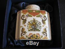 Queen Royal Worcester Porcelain Tea Caddy Comm ' Jubilé De Diamant 2012 Sib