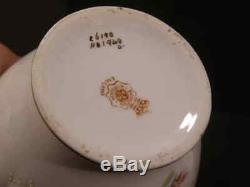 Rare 19 C Royal Doulton Émail Thé Au Gingembre Pot Caddy Porcelaine Peinte À La Main Lily