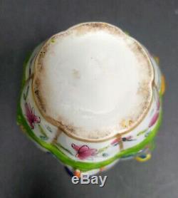 Rare Antique Chinois D'exportation De Style Beaux Thé En Porcelaine Caddy