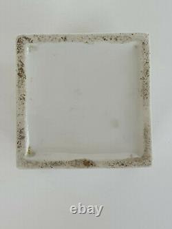 Silber, Porzellan Teedose I. Chlebnikov-argent, Caddie De Thé En Porcelaine I. Chlebnikov