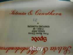 Spode Stafford Fleurs Bone Chine F1661 Grand Caddy De Thé Avec Limace