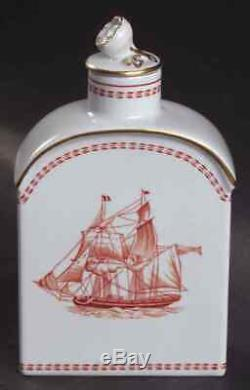 Spode Trade Winds Red Tea Caddy 687747