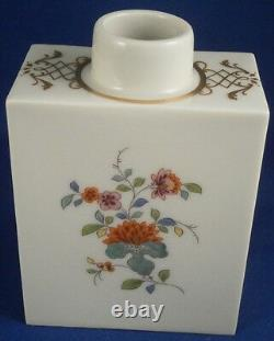 Superbe Meissen Porcelaine Kakiemon Design Thé Lidé Caddy Jar Porzellan Teedose