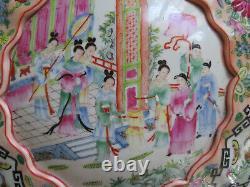 Très Grand 14 Chinese Porcelaine Box Canton Famille Rose Médaillon