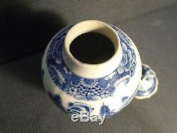 Un Bon 18. Siècle Période Chinoise Qianlong B & W Porcelaine Tea Caddy Et Couverture