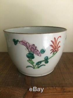 Une Paire De Chinois Antique Famille Rose Porcelaine Couvercle Pot De Thé (marque Tongzhi)