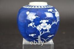 Vase Antique En Porcelaine Chinoise En Porcelaine Chinoise Cherry Blossom, 18ème C, 9.5cm