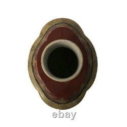 Vintage Chinese Export À Thé En Porcelaine Peinte À La Main Vase Caddy