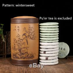 Yixing Véritable Boîte À Thé De Luxe Yixing Thé Caddies Pour Pot Scellé Gâteau De Thé Pu'er